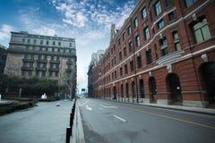 Gammala shanghai historisk byggnad Arkivfoton