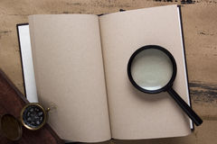 gammala sidor för blank bok Royaltyfri Fotografi