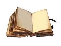 gammala sidor för blank bok arkivfoto
