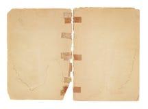 gammala sidor för blank facing royaltyfria foton