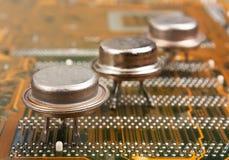 gammala silikoner för chip Arkivbild