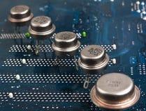 gammala silikoner för chip Arkivfoton