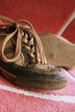 gammala skor Arkivbild