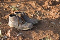 gammala skor för bonde Royaltyfri Fotografi