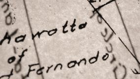 gammala skrifter stock video