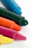 gammala slog kulöra crayons Royaltyfria Bilder