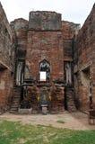 gammala slottväggar för narai Royaltyfri Foto