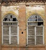 gammala slutarefönster Arkivbilder
