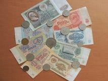 Gammala sovjetiska pengar Fotografering för Bildbyråer