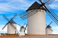 Gammala spanska windmills Arkivbild