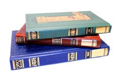 Gammala staplade böcker Royaltyfri Foto