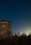 gammala stjärnatrails för hus Arkivfoto