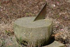 gammala sundialwomans för framsida Arkivfoto