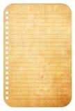 Gammala tappningpappersanmärkningar Arkivbild