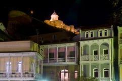 Gammala Tbilisi på natten Royaltyfria Foton