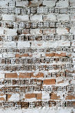 gammala tegelstenar Arkivbilder