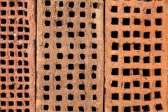 Gammala tegelstenar mönstrar bakgrund Arkivbilder