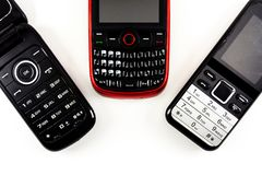 gammala telefoner royaltyfri foto