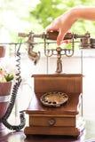 gammala telefoner Arkivbilder