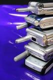 gammala telefoner för cell Royaltyfria Foton
