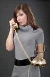 gammala telefonkvinnor Arkivfoto