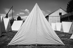 gammala tents för armé Royaltyfria Foton