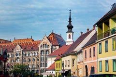 Gammala townbyggnader i Budapest, Ungern Fotografering för Bildbyråer