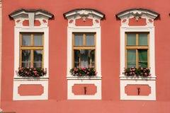 gammala townfönster Fotografering för Bildbyråer