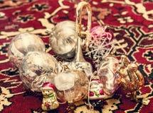 gammala toys för jul Arkivbilder