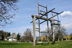 Gammala trä rullar Arkivbilder