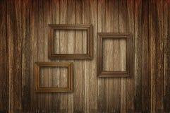 Gammala träbildramar Arkivfoto