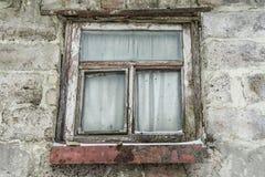 Gammala träfönster Bakgrund från gamla Windows Royaltyfri Foto