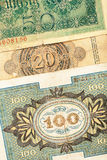 Gammala tyska pengar Royaltyfri Fotografi