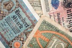 gammala tyska pengar Royaltyfria Bilder
