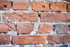 gammala väggar för tegelsten Arkivbild
