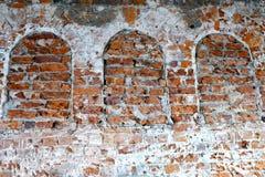 gammala väggar för tegelsten Arkivbilder