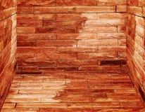 gammala väggar för tegelstengolv Royaltyfri Fotografi