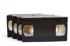 Gammala vhs-videokassetter Arkivfoto