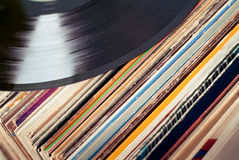 gammala vinyler Fotografering för Bildbyråer