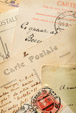 gammala vykort Royaltyfri Fotografi