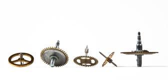 gammala whirligigs för klocka Arkivbild