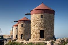 gammala windmills Royaltyfri Bild