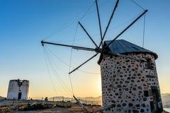 gammala windmills Royaltyfri Fotografi