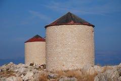 gammala windmills för halkiö Royaltyfria Foton