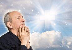 gammalare be för man Fotografering för Bildbyråer
