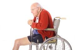 gammalare benpensionär för amputation Royaltyfri Foto