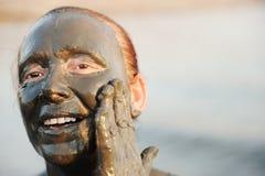 gammalare dräktkvinna för badning arkivfoto