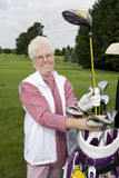 gammalare golfare Royaltyfri Foto