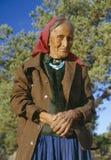 Gammalare indiankvinna Arkivbilder