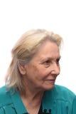 gammalare kvinna fotografering för bildbyråer